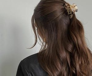 hairstyle, long hair, and brown hair image