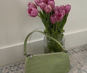 aesthetic, bags, and bouquet image