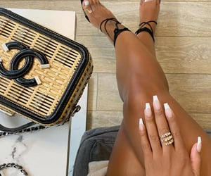 chanel, nails, and bags image