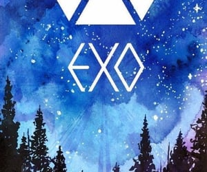 background, exo, and galaxy image