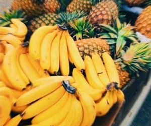 banana, pineapple, and FRUiTS image