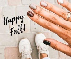 nail art, nail polish, and neutral nail image