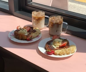banana, coffee, and coffee shop image