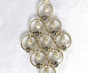 designer jewelry, pearl pendant, and sterling necklace image