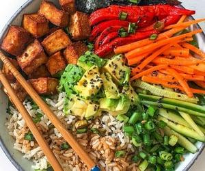 avocado, bowl, and carrot image