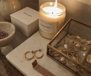 candle, jewelry, and aesthetic image
