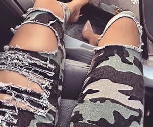 army, camouflage, and denim image