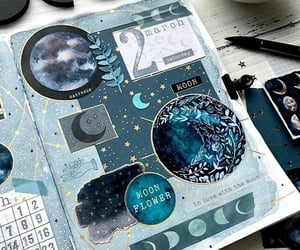 bullet journal, art, and blue image