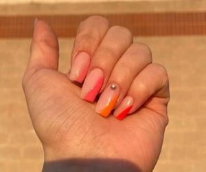 colorful nails, gel, and long nails image