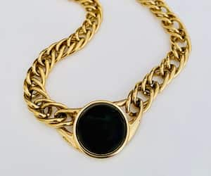 etsy, vintage jewelry, and black cabochon image
