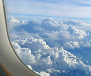 aesthetic, clouds, and travel image