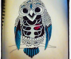 owl, Sharpie, and sketch image