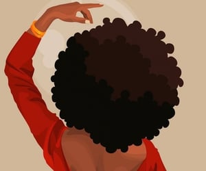 Afro, black girl, and brown skin image