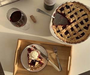 food, pie, and aesthetic image