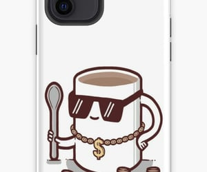 case, iphone, and coffee image