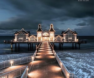 house, lights, and oceans image