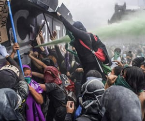 injured, mexico, and women's march image