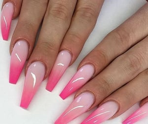 nails, pink, and ombre image