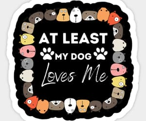 doglover, sticker, and petlover image