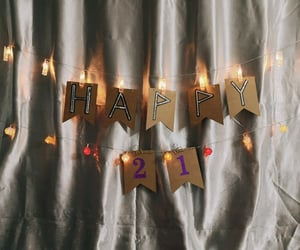21, celebration, and lights image