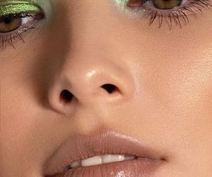 eyeshadow, makeup, and green image