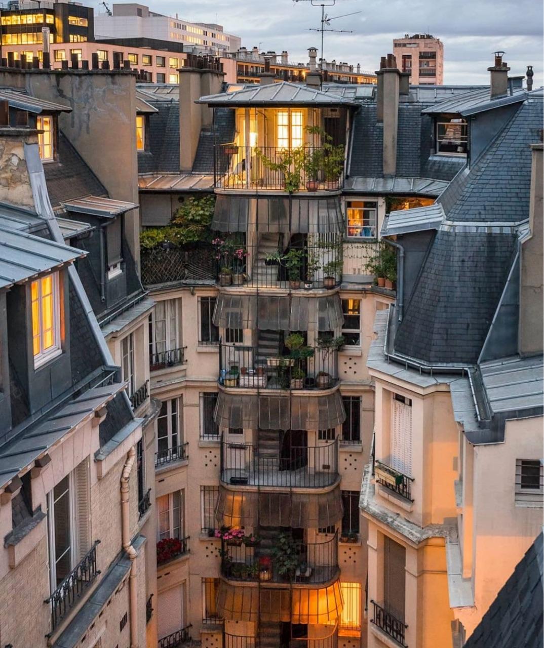 city, homes, and lights image