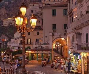 city, evening, and lanterns image