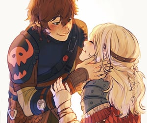 astrid, hiccup, and viria image