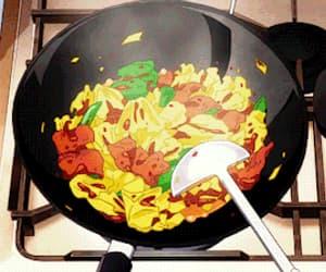 anime, gif, and food image