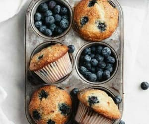 muffin, food, and blueberry image