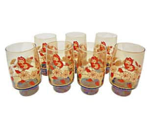 etsy, butterfly glasses, and pedestal glasses image