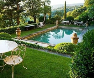 garden and pool image