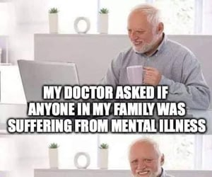 meme, doctor, and mental image