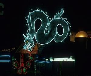 dragon, neon, and aesthetic image