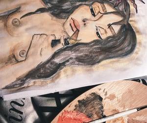 cigarette, inspiration, and lip image