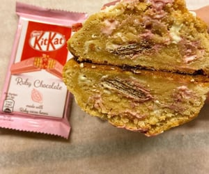 delicious, kitkat, and pink image
