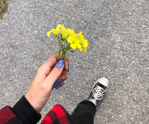 black, flowers, and walk image