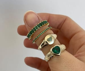 green, jewelry, and accessories image