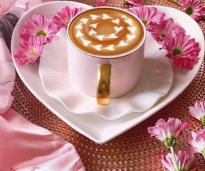 coffee, delicious, and floral image