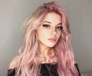 girl, pink hair, and aes image