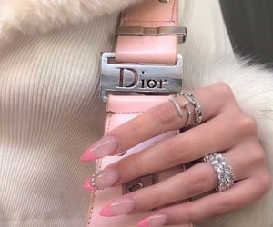 nails, dior, and jewelry image