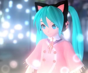 aesthetic, cat, and catgirl image