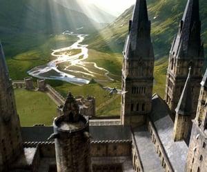 hogwarts, harry potter, and home image