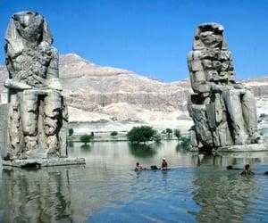 1965, ruins, and colossi of memnon image