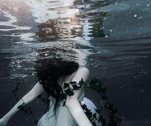 nature, water, and woman image