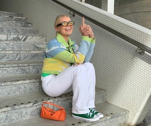 blogger, cardigan, and converse image