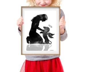 dachshund, etsy, and black watercolor image