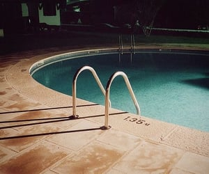 night, pool, and summer image