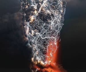 nature, volcano, and chile image