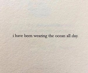 ocean, poem, and quote image